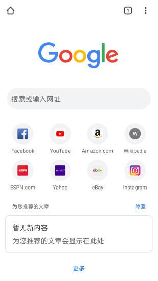 谷歌浏览器手机版截图1